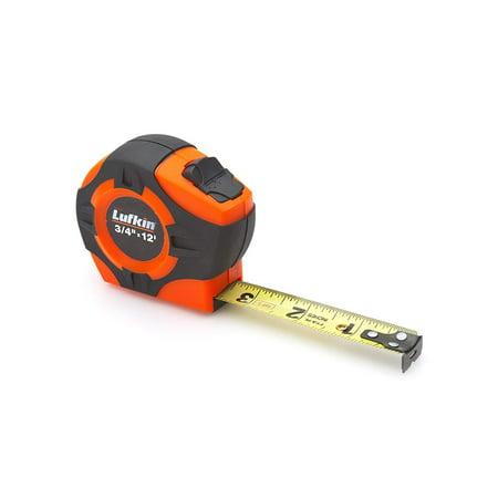 Lufkin PHV1312D Power Return Engineer's Tape, 3/4-Inch by 12-Feet, Hi-Viz Orange, Full length clear coat for more durable markings By Apex Tool