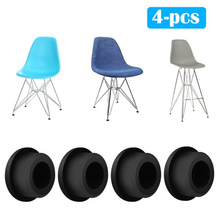 Chair Foot Protector, EEEKit 4-Pack Chair Glides Replacements for Eames Eiffel Style Chair Leg Cover Furniture Feet Black ()