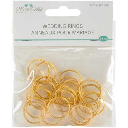 "Wedding Rings .75"" 24/Pkg-Gold - image 1 de 1"