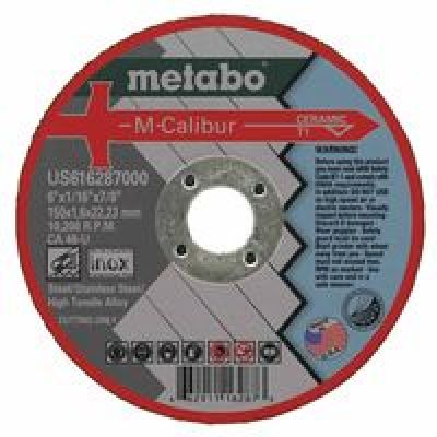 M-Calibur Ca46U Grinding Wheel For Stainless Steel, 6 X 1/16 X 7/8, Ty
