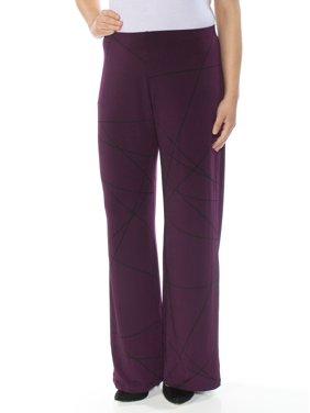 1a80f56d692e9 Product Image ALFANI Womens Purple Wide Leg Pants Size  S