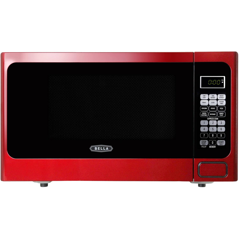 Red Microwave Oven 1000 Watt: Bella BMO11ABTBKD 1.1 Cu. Ft 1000-Watt Family Sized