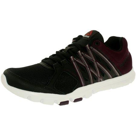 Reebok Women s Yourflex Trainette 8.0Lmt Black Orchid White Low Top Fabric  Walking Shoe - 10M - Walmart.com 83872f86f