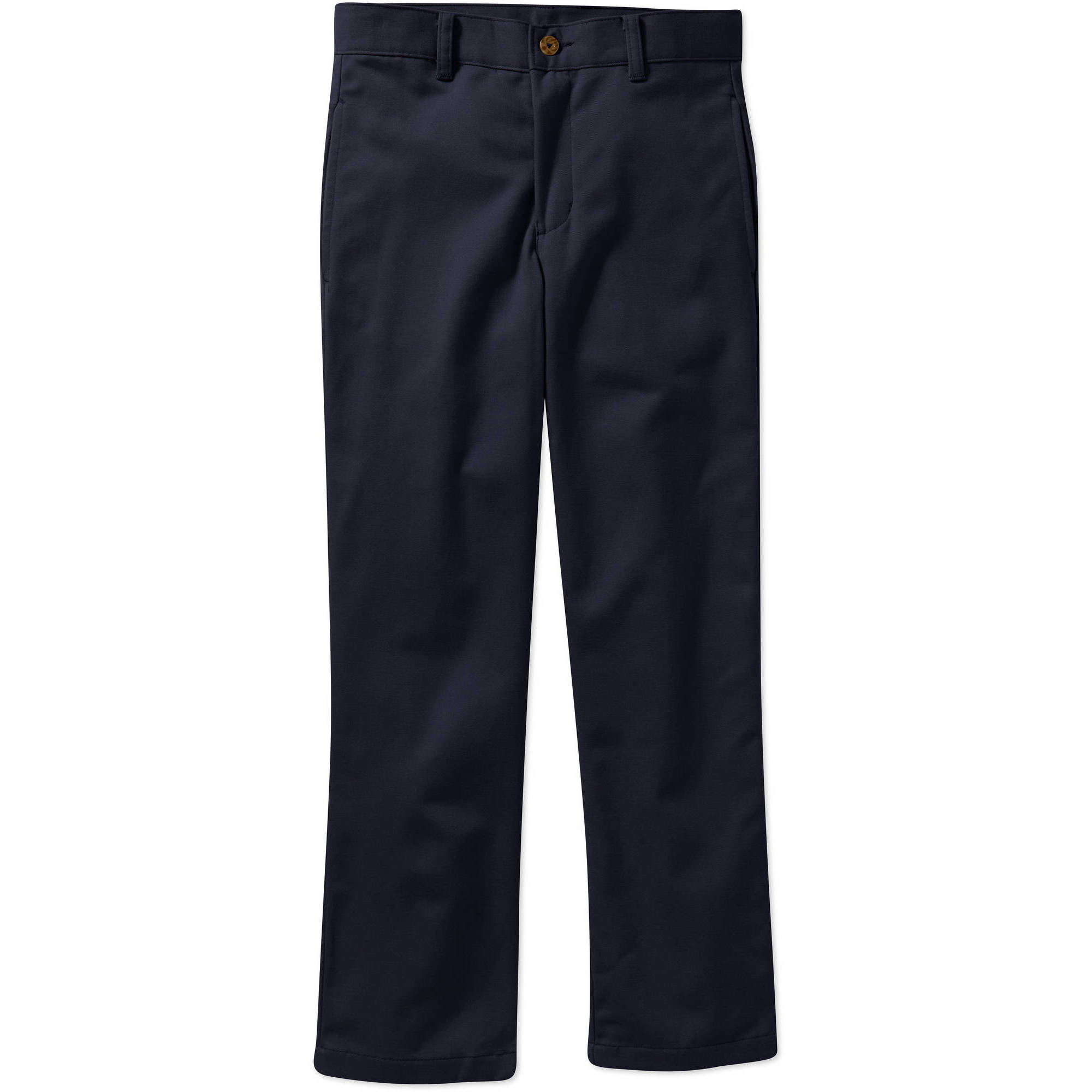 George Boys Slim Flat Front Twill Pant With Scotchguard