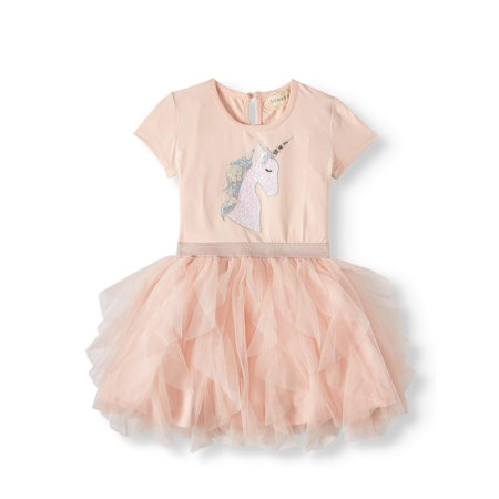Sequin Unicorn Ruffled Tutu Dress (Little Girls & Big Girls) - Little Girl Smocked Dresses