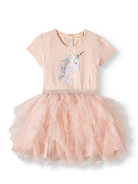 b4e87cb5d Product Image Sequin Unicorn Ruffled Tutu Dress (Little Girls & Big Girls)