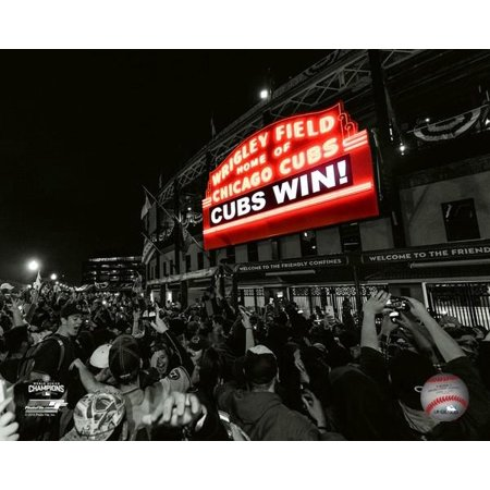 Wrigley Field after Game 7 of the 2016 World Series Spotlight Photo Print Framed Photo World Series Game