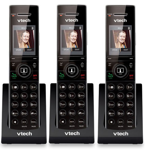 """VTech IS7101 Cordless Accessory Handset 1.8"""" LCD Display w  HD Voice Clarity & Caller ID (3 Pack) by VTech"""
