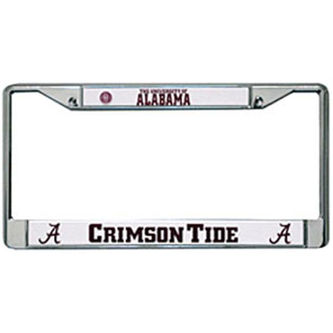Rico NCAA Alabama Black Chrome Frame Sports Fan Automotive Accessories One Size Multicolor