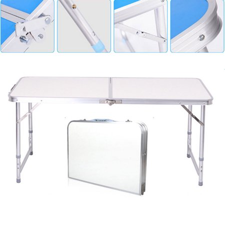 UBesGoo Aluminum Folding Table 4'Portable Outdoor Picnic Camping Table Party Wedding ()
