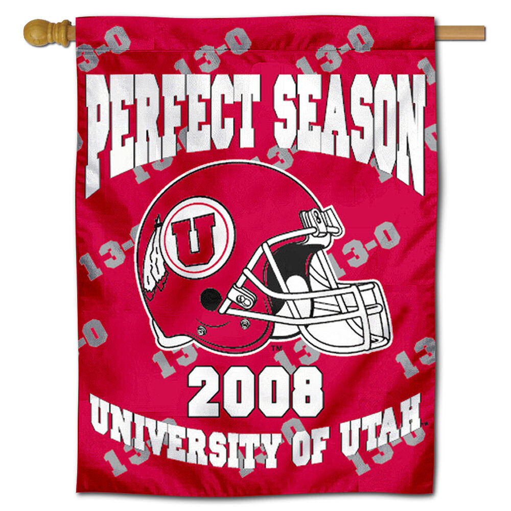 "Utah Utes Undefeated Season 30"" x 40"" Double Sided House Flag"