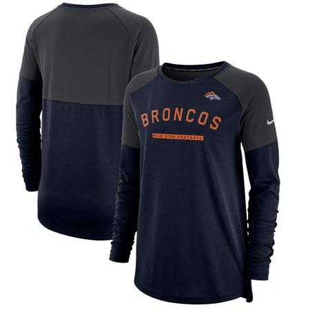 Denver Broncos Nike Women's Tailgate Long-Sleeve T-Shirt - Navy (Nike Shirts Women)