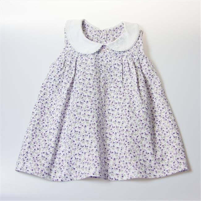 Little Ashkim BGCDRESS1824 Peter Pan Collar Girl Dress - White With ...