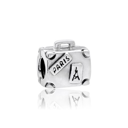 Authentic Silver Suitcase Bead Charm, 790362