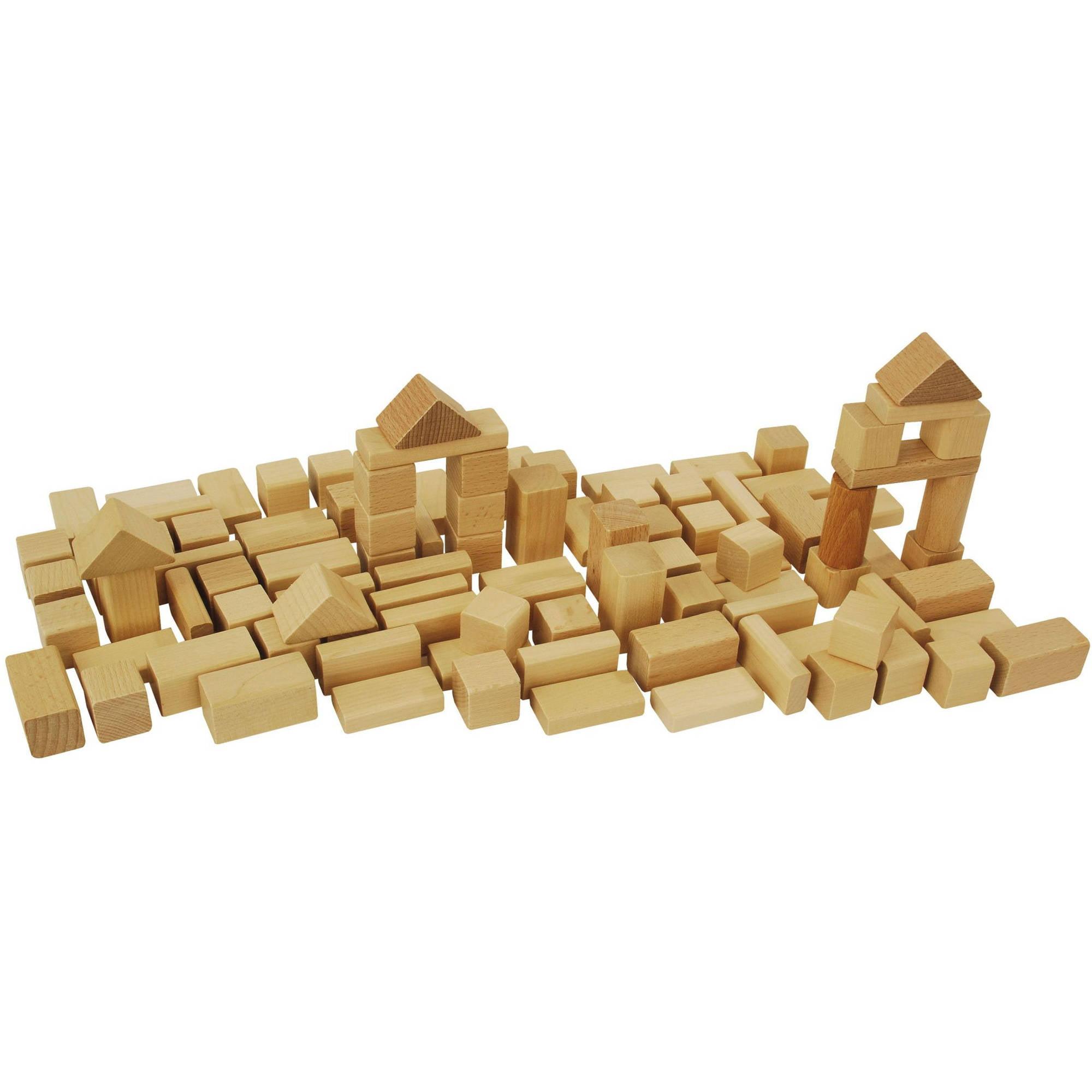 Heros 50-Piece Natural Wooden Blocks