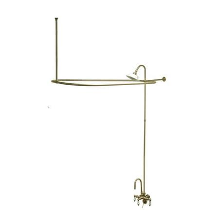 Gooseneck Package (Kingston Brass Vintage Triple Handle Wall Mount Gooseneck Clawfoot Tub Faucet)