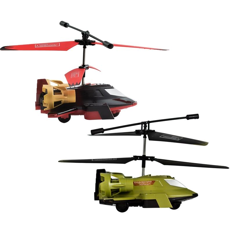 TechToyz Black Spider Fly and Drive Wireless RC Gyro Helicopter, Military Green