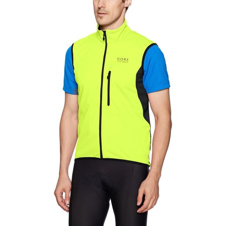 GORE BIKE WEAR Menâ??s Soft Shell Cycling Vest, GORE WINDSTOPPER,  Vest, Size: XL, Neon yellow/Black, (Gore Bike Wear Power Windstopper Softshell Jersey)
