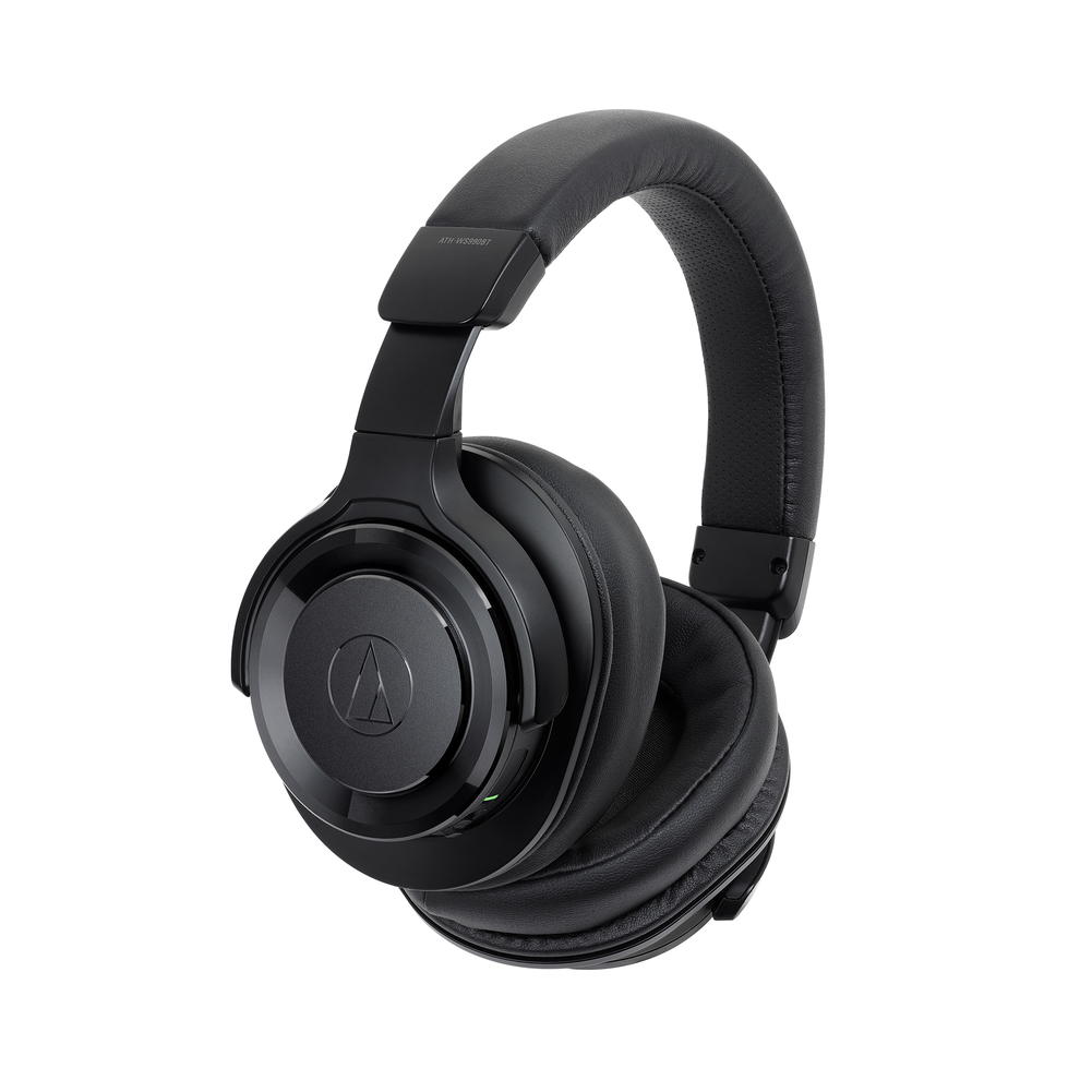 Audio Technica ATH-WS990BTBK Solid Bass Wireless Over-Ear Headphones with Mic