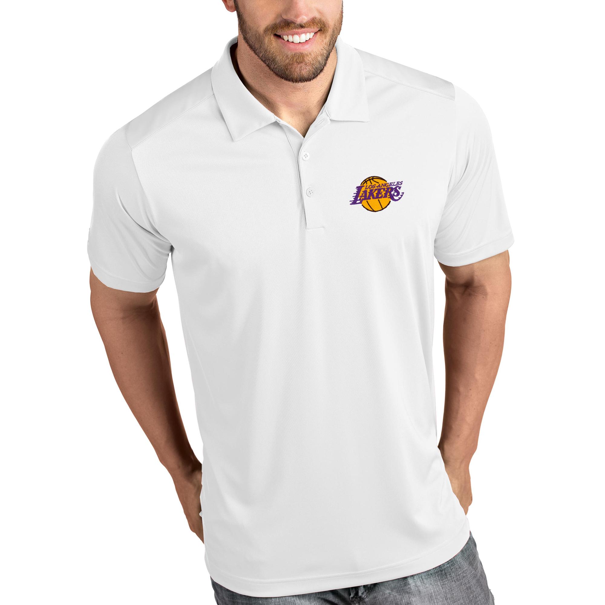 Los Angeles Lakers Antigua Tribute Polo - White