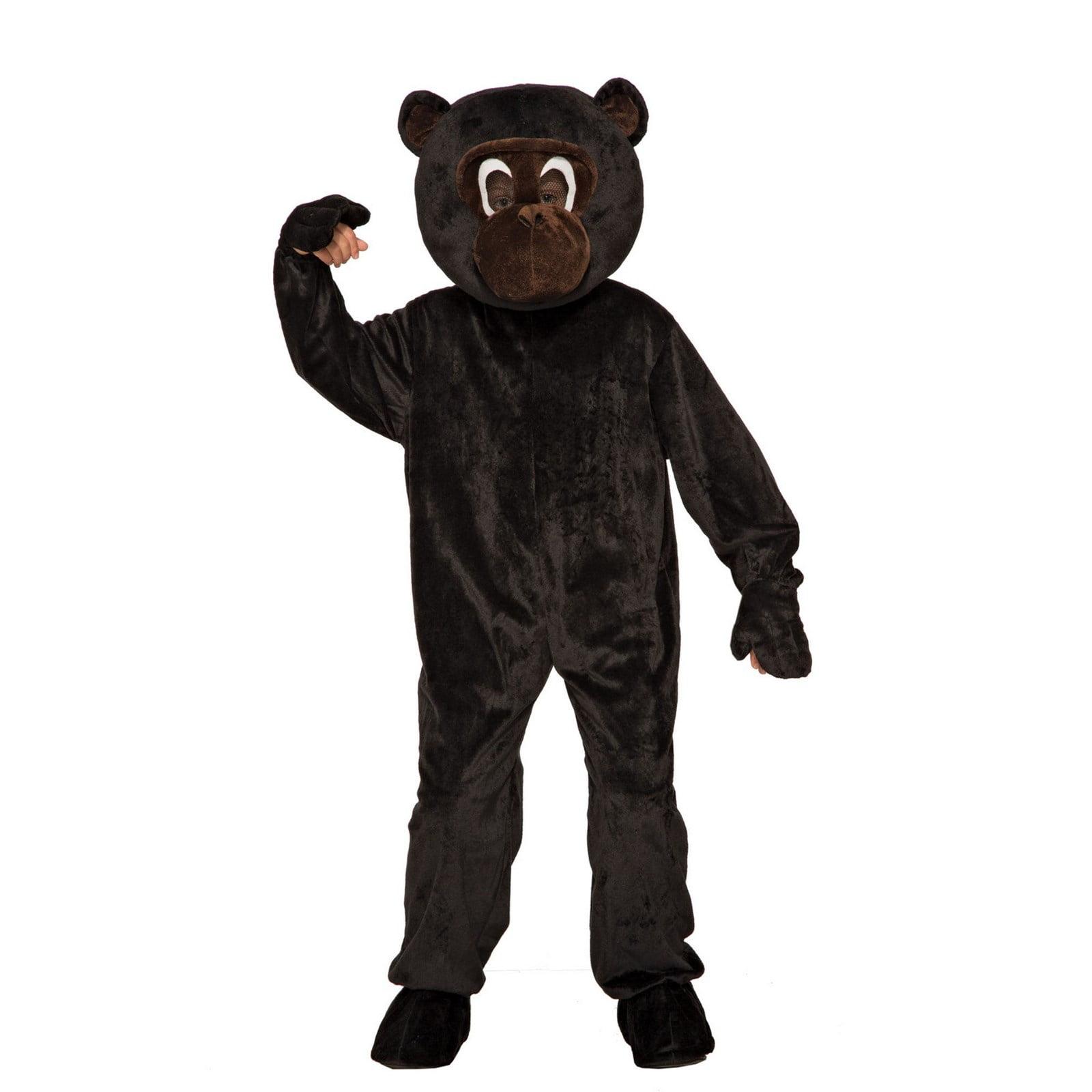 Monkey Child Hooded Zoo Circus Animal Costume Cape Cloak Mantle