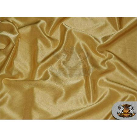 (Satin Crepe Solid Fabric NIGHT GOLD / 60