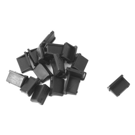 Notebook Computer Rubber USB Port Anti Dust Cover Cap Protector Black 18 PCS - image 3 of 3
