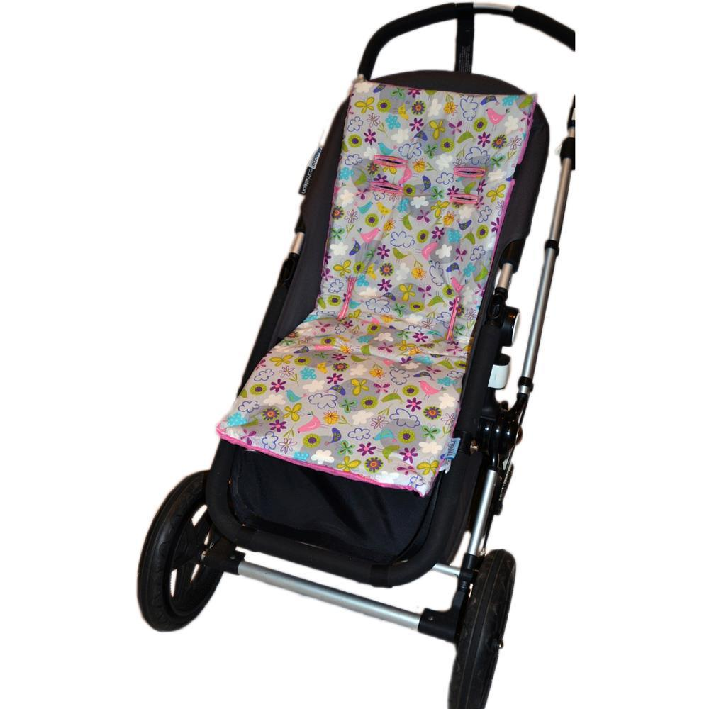 Tivoli Couture Nu Comfort Memory Foam Stroller Pad and Seat Liner Spring Blossoms