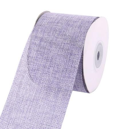Wedding Party Holiday Decor Burlap Gift Wrap Ribbon Roll Light Purple 10M - Purple Burlap