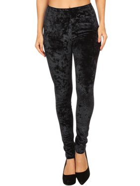 d7ef51a95ff729 Product Image Crushed Velvet Velour Womens Stretchy Leggings