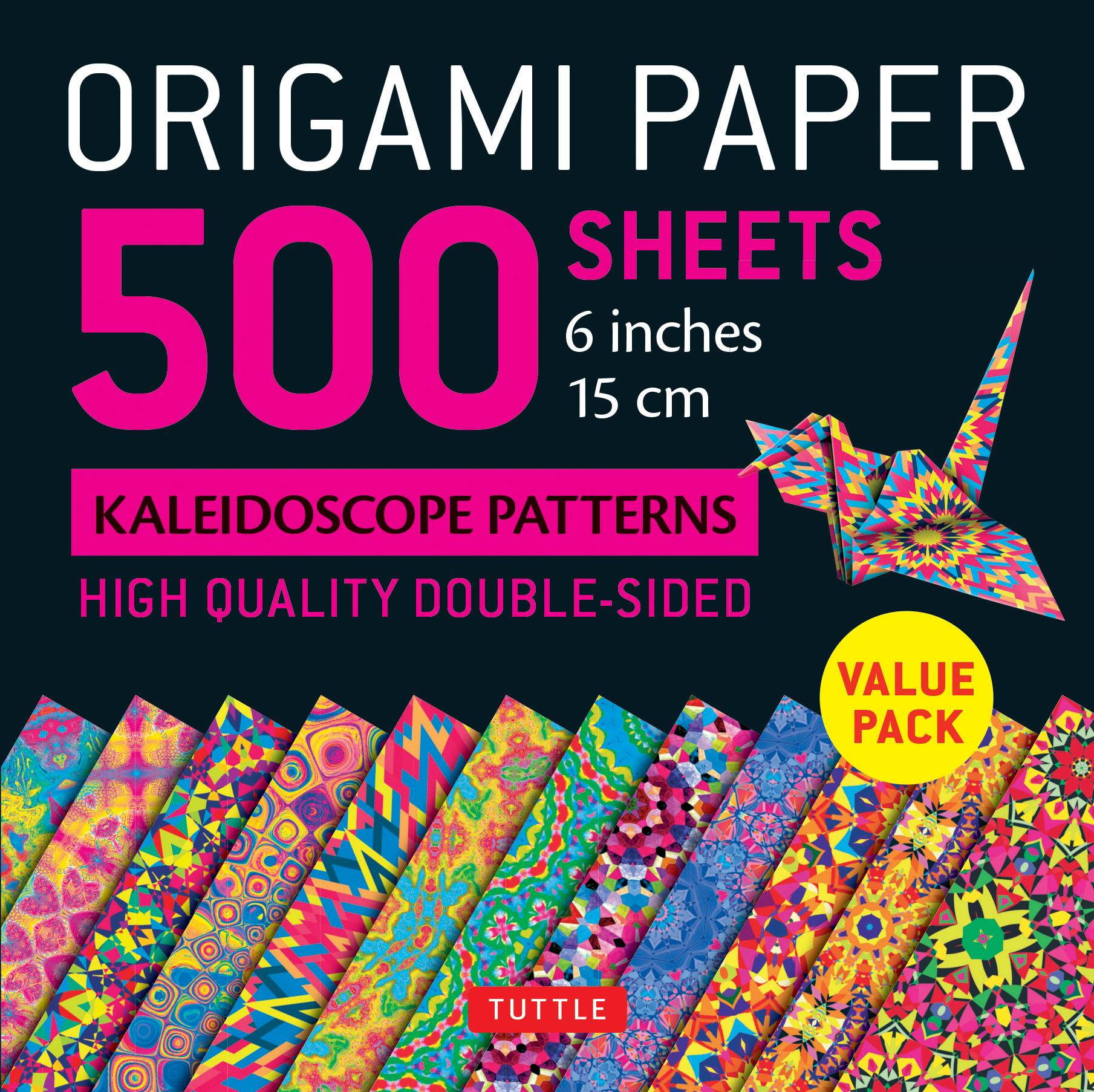 "Origami Paper 500 Sheets Kaleidoscope Patterns 6"" (15 CM) : Tuttle Origami Paper: High-Quality Origami Sheets Printed with 12 Different Designs: Instructions for 8 Projects Included"