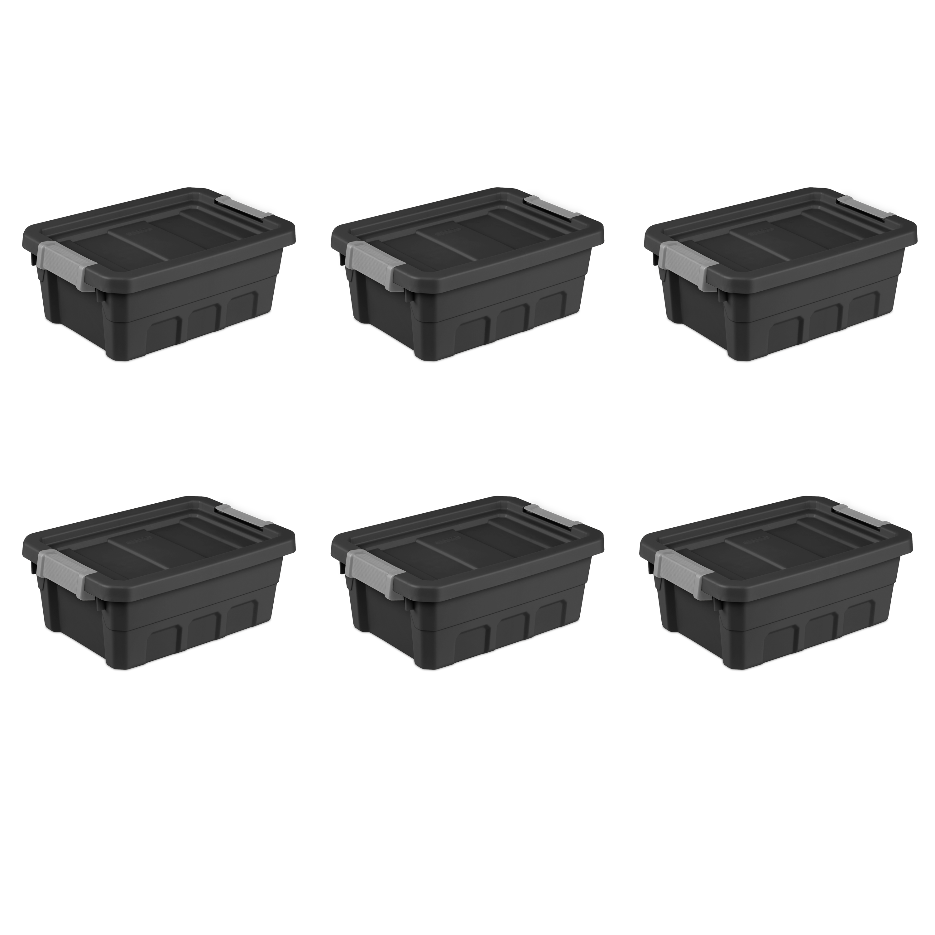 Sterilite 4 Gal Stacker Tote- Black (Available in Case of 6 or Single Unit)
