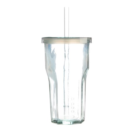 Aladdin Tumbler Cup With Lid and Straw: 16 oz Glass Tumblers With Straws Reusable, Tumbler Cups Eco Friendly, Clear Tumbler With Straw