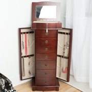 Hives and Honey Nora Freestanding Jewelry Armoire - Cherry