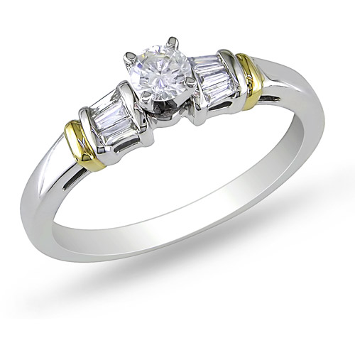3/8 Carat T.W. Diamond Engagement Ring in 10kt 2-Tone Gold