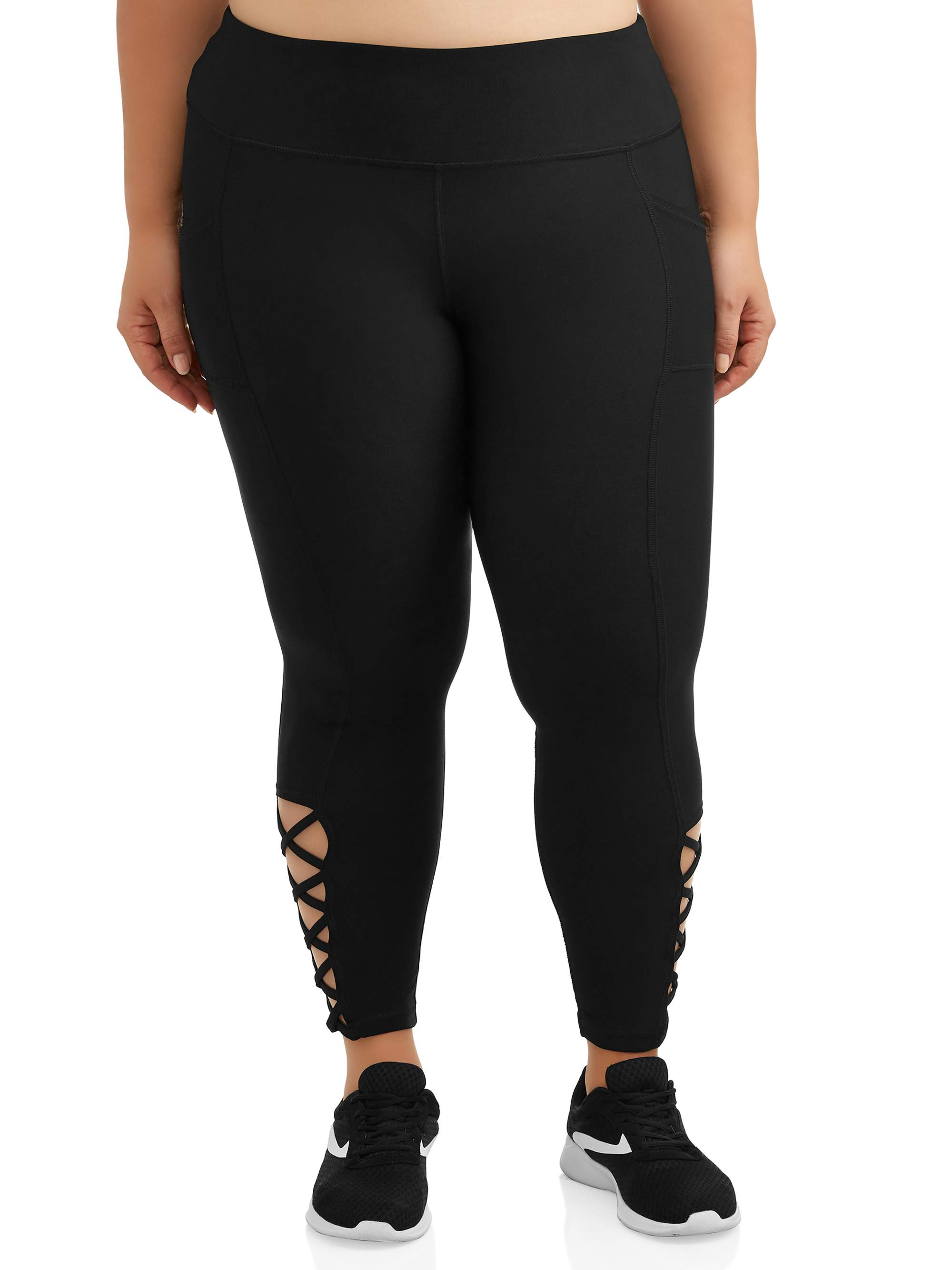 New York Laundry Women's Plus Cut Out Legging with Side Pockets
