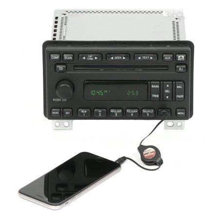 Ford Explorer 2005 Mercury Mountaineer Radio AM FM CD w Aux Input 5L2T-18C869-AC - Refurbished