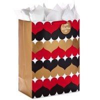 "Hallmark 20"" Oversized Valentine's Day Gift Bag with Tissue Paper (Heart Pattern)"