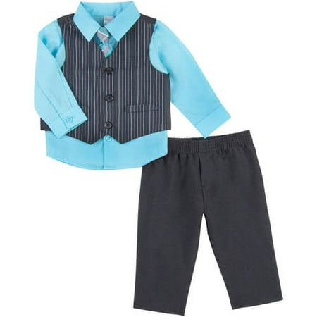 George Newborn Baby Boy Thin Road Stripe Dress Set