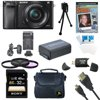 Sony a6000 ILCE6000LB ILCE-6000L/B ILCE6000 Alpha a6000 24.3 Interchangeable Lens Camera with 16-50mm Power Zoom Lens BUNDLE with 32GB Class 10 Card, Spare Battery, Deluxe Padded Case, DVD SLR Guide Sony a6000 ILCE6000LB ILCE-6000L/B ILCE6000 Alpha a6000 24.3 Interchangeable Lens Camera with 16-50mm Power Zoom Lens BUNDLE with 32GB Class 10 Card, Spare Battery, Deluxe Padded Case, DVD SLR Guide, SD Card Reader, and MORE [includes components: Sony Alpha a6000 24.3MP Interchangeable Lens Camera with 16-50mm Power Zoom Lens; Sony Alpha A6000 Mirrorless Digital Camera -- 16-50mm f/3.5-5.6 OSS Alpha E-mount Retractable Zoom Lens -- NP-FW50 Lithium-Ion Rechargeable Battery (1080mAh) -- AC Adapter AC-UB10 -- Micro USB Cable -- Limited 1-Year Warranty; General Brand Memory Card Reader, Card Wallet, Mini Tripod, Cleaning Kit and More; Microfiber Cleaning Cloth -- Card Reader -- Mini Tripod -- Screen Protectors -- 3 Piece Cleaning Kit -- Memory Card Wallet; Vivitar InfoLithium H Series NP-FW50 Camera battery for DSCHX1 and Select Alpha SLRs; Xit Compact Deluxe Gadget Bag for Photo/Video; Sony SF32UY2/TQ - 32GB SDHC Class 10 UHS-1, R70 Memory Card; Masterworks JumpStart Training Guide on ...
