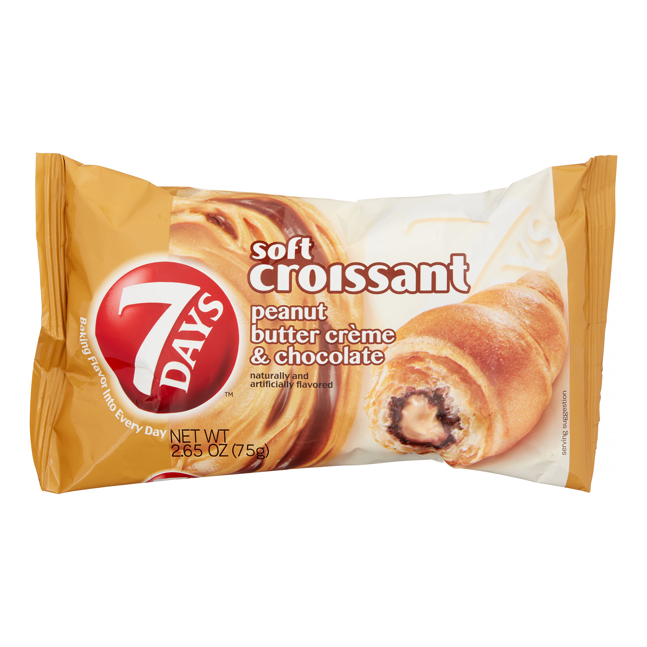 Image of 7 Days Soft Croissant Peanut Butter & Chocolate 2.65oz
