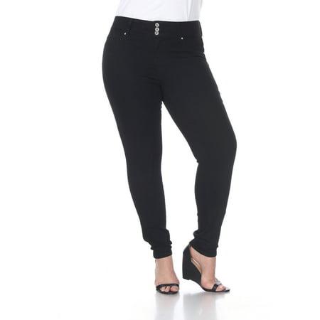 1d72a9b760 White Mark - Women s Plus Size Super Stretch Black Denim Jeans - Walmart.com