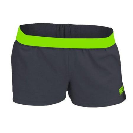 Juniors Black Short - Juniors New  Short, Black & Limeade - Large