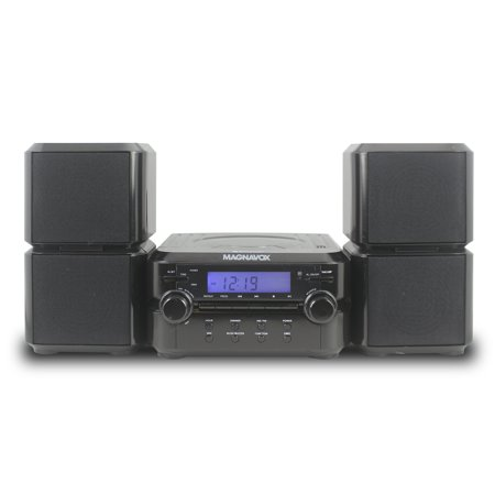 Magnavox Mm435 Black 3Pc Cd Shelf Stereo System Am Fm