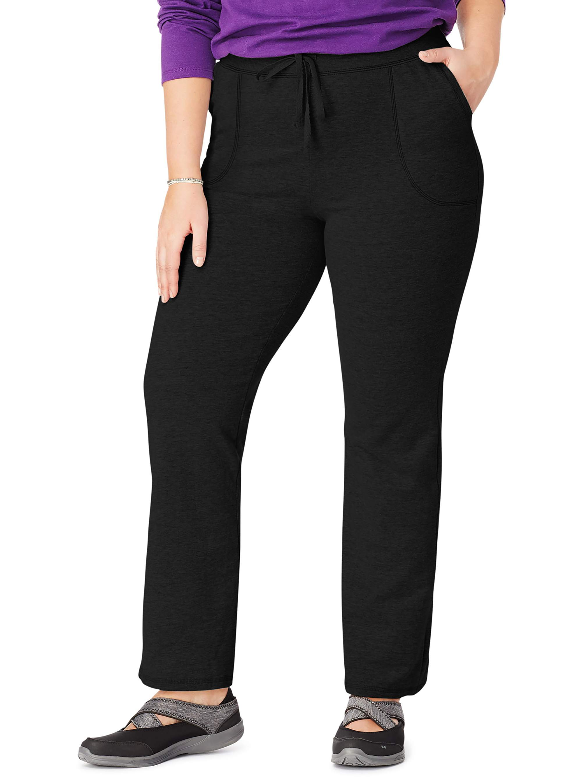 Women's Plus-Size French Terry Pocket Pant