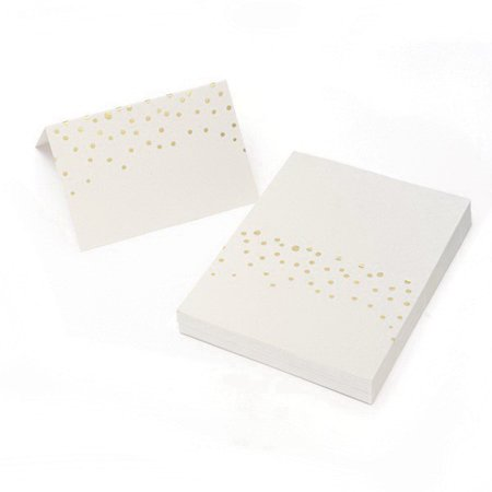Gartner Studios 12687 Gold Foil Dots Place Cards 50CT