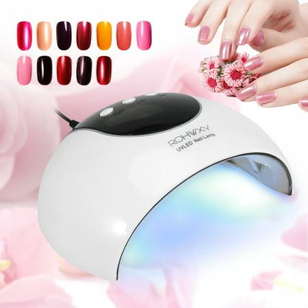 24W Manicure UV LED Nail Gel Polish Curing Light Lamp Smart Auto Sensor Nail Art Dryer,UV LED Nail Lamp, Nail Gel Polish Drying -