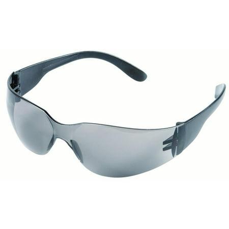 Wraparound Eyewear Safety Glasses, Protective Polycarbonate Smoked Lens 12 Pieces