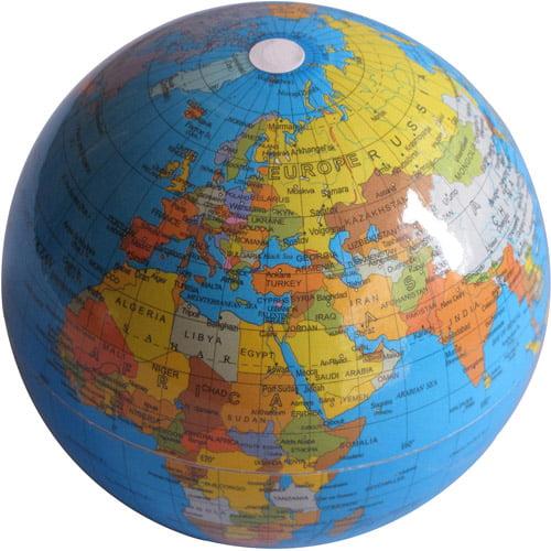 Rotating Globe, Blue