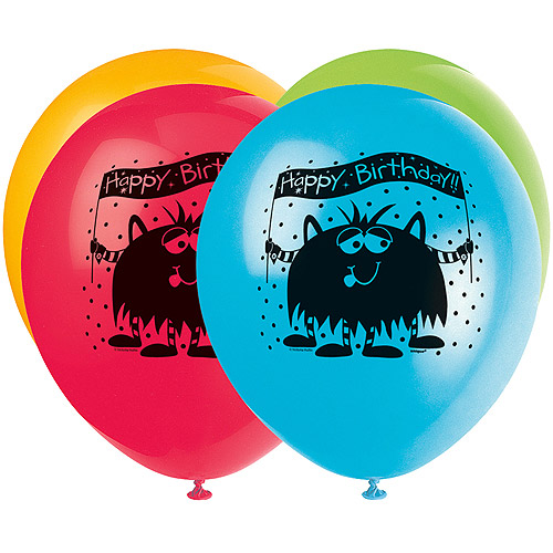 "12"" Party Monsters Balloons, 8pk"